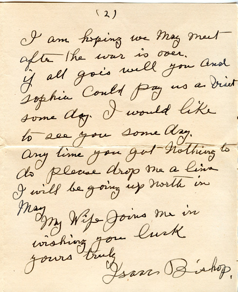 1945 April letter Isaac bixhop to Ellis Washburn 4