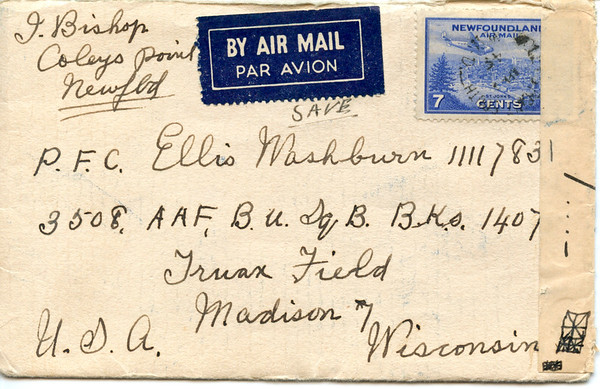 1945 April letter Isaac bixhop to Ellis Washburn 1